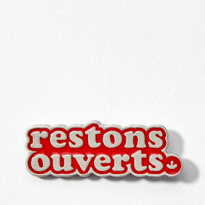 Roots-Femmes Restons Ouverts-Restons Ouverts Broche-Rouge Sauge-A