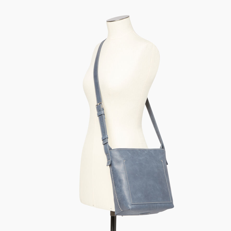 Roots-Leather Our Favourite New Arrivals-Rideau Crossbody-Navy-B