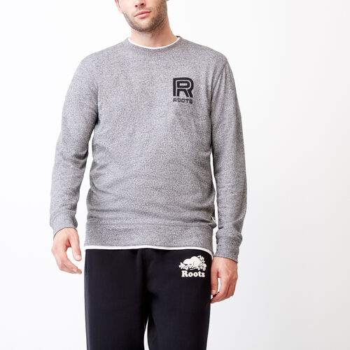 Roots-Men Categories-Clearwater Longsleeve Top-Salt & Pepper-A