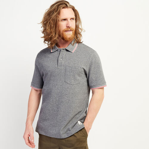 Roots-New For July The Roots Cabin Collection™-Cabin Polo-Salt & Pepper-A