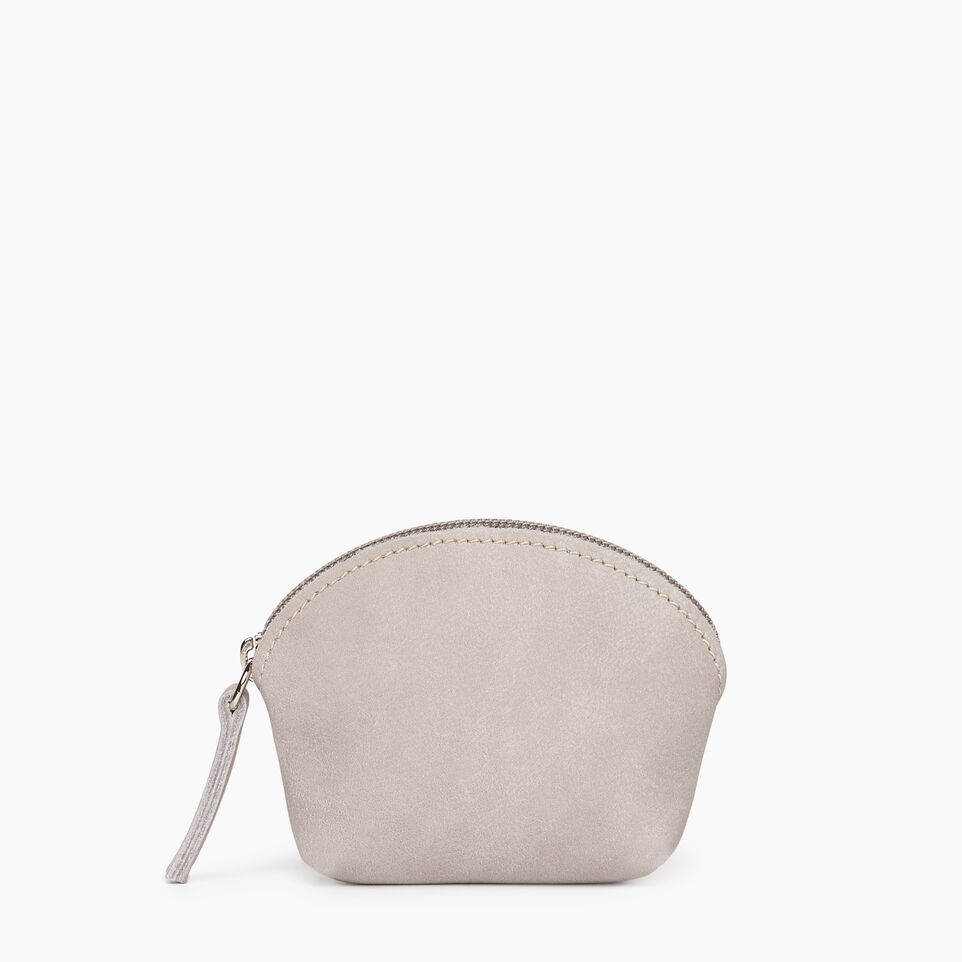Roots-Leather Small Leather Goods-Small Euro Pouch-Sterling Grey-A