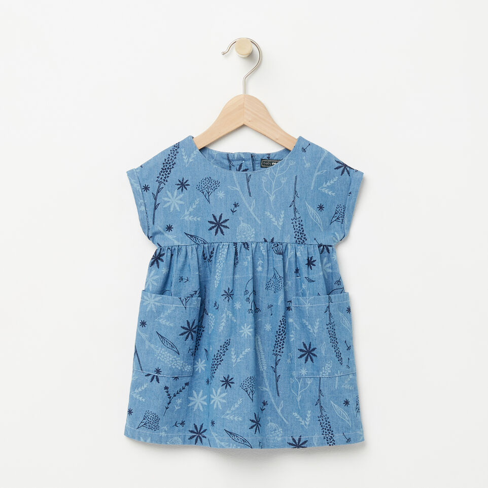 Roots-Baby Floral Denim Dress