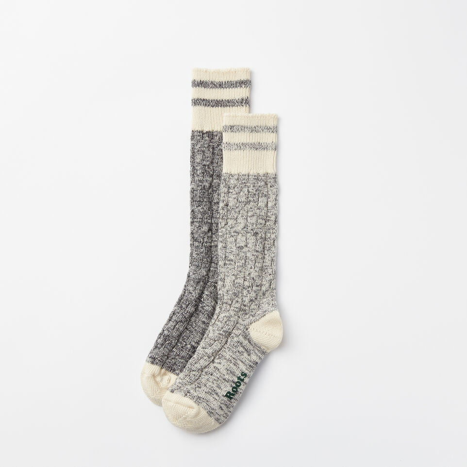 Roots-undefined-Womens Cable Park Sock 2 Pack-undefined-A