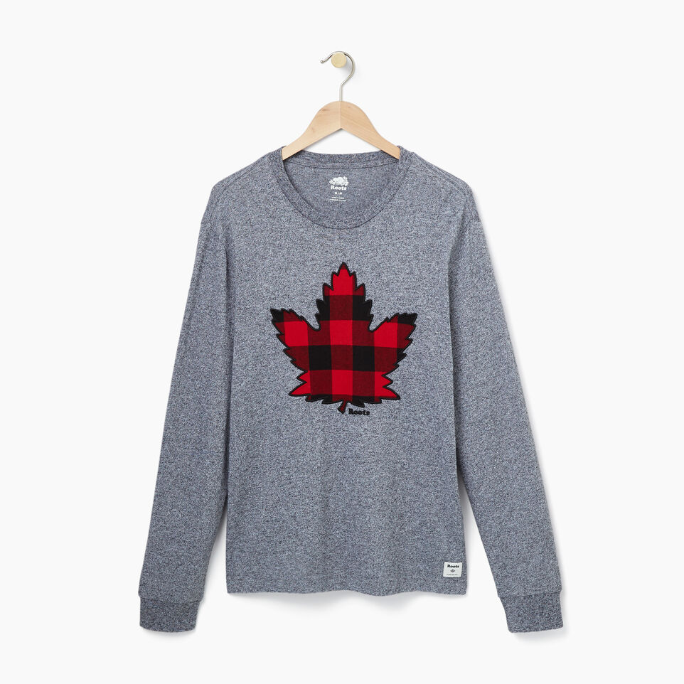 Roots-undefined-Mens Canuck Plaid Longsleeve T-shirt-undefined-A