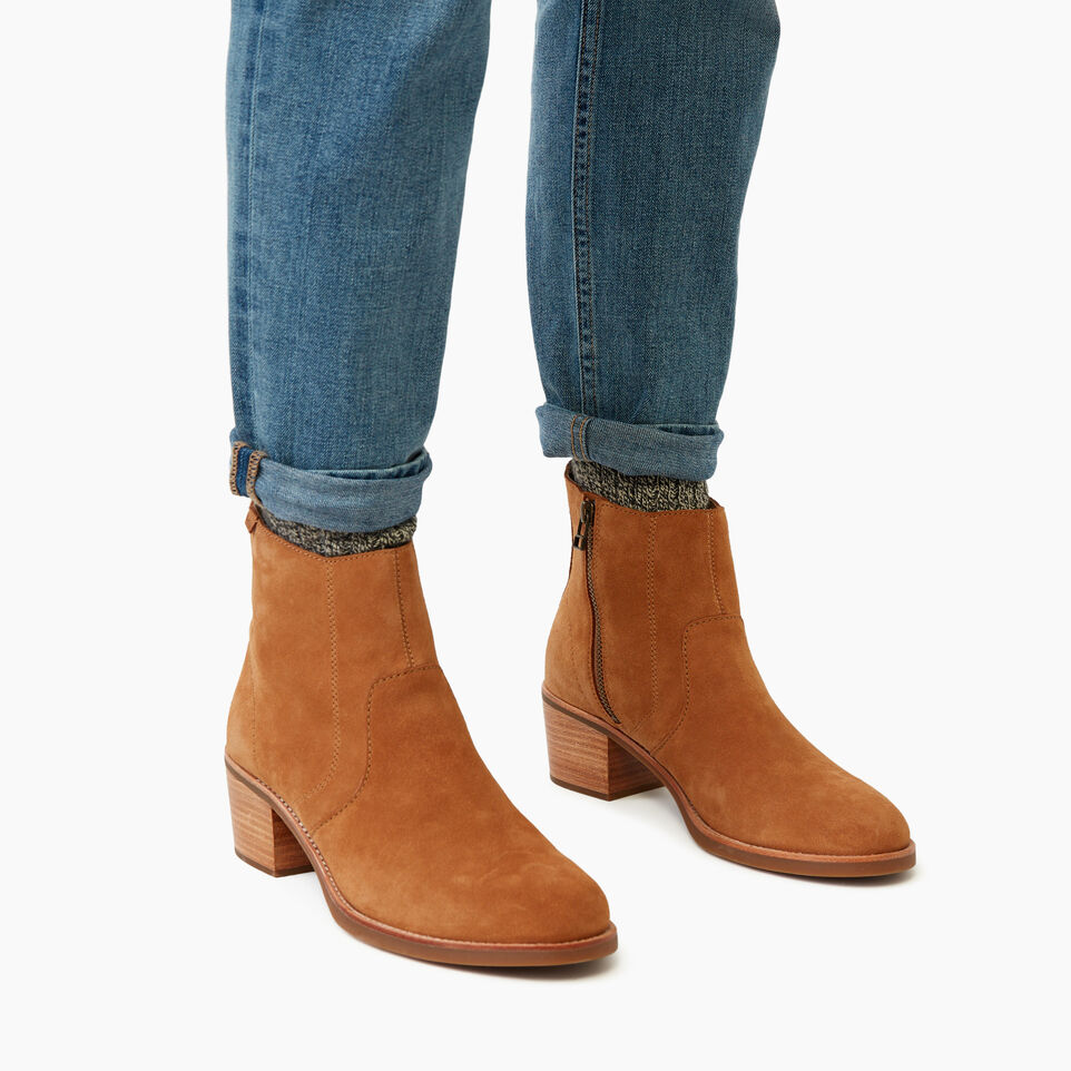 Roots-Women Clothing-Womens Liberty Boot Suede-Caramel-B