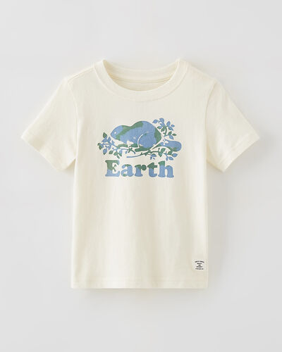 Roots-New For This Month Roots Organics-Toddler Earth T-shirt-Egret-A