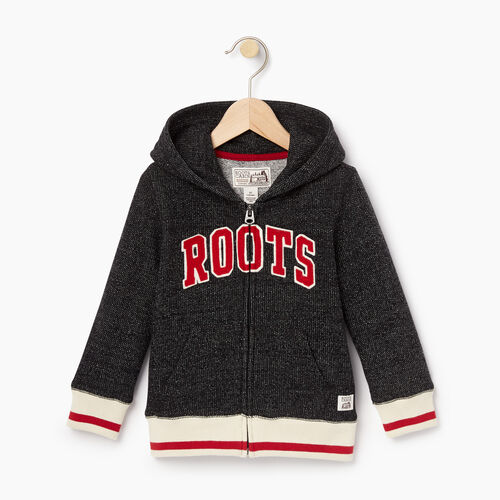 Roots-Kids Tops-Toddler Roots Cabin Full Zip Hoody-Black Pepper-A