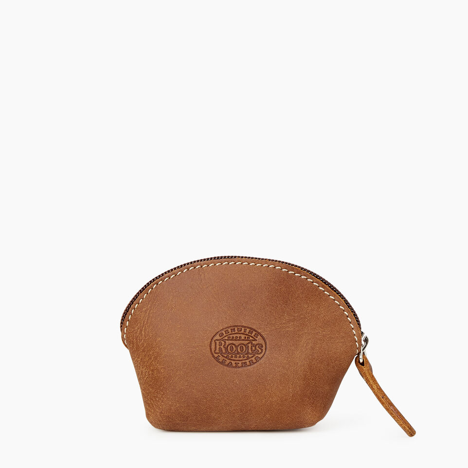 Roots-Women Leather Accessories-Small Euro Pouch-Natural-B