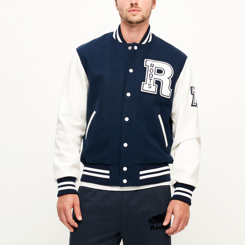 Roots-Men Award Jackets-Vintage Award Jacket-Navy-A