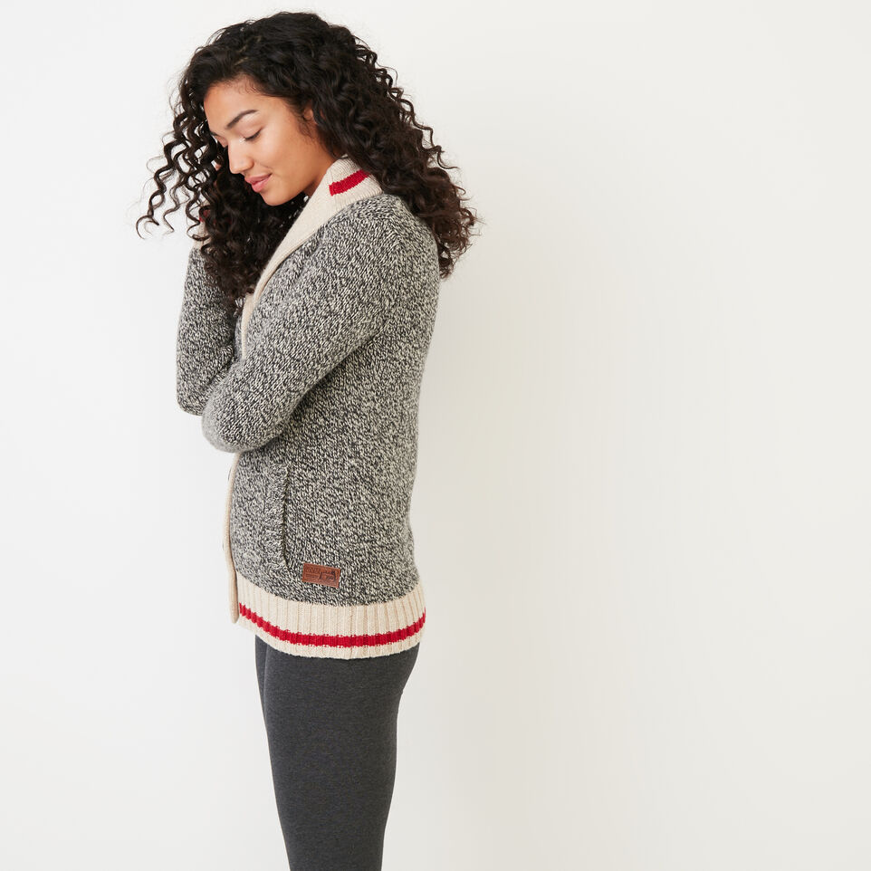Roots-Women Categories-Roots Cabin Shawl Cardigan-Grey Oat Mix-C
