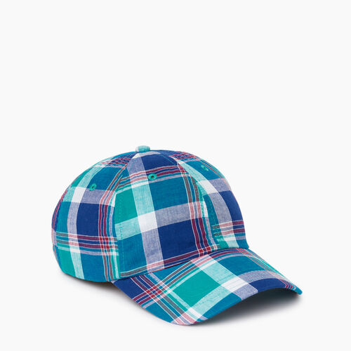Roots-Men Accessories-Madras Baseball Cap-Multi Plaid-A
