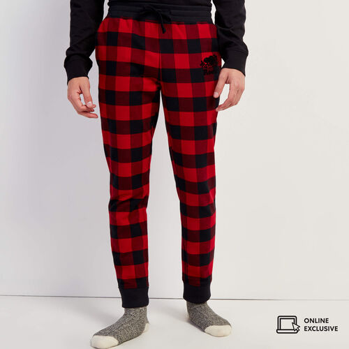 Roots-Men New Arrivals-Park Lounge Jogger-Cabin Red-A