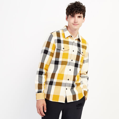 Roots-New For September Work From Home-Cypress Twill Shirt-Golden Yellow-A