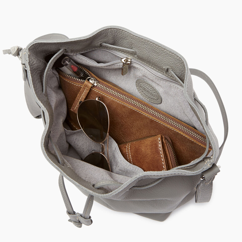 Roots-Leather Handbags-Sherbrooke Bucket-Silverstone-D