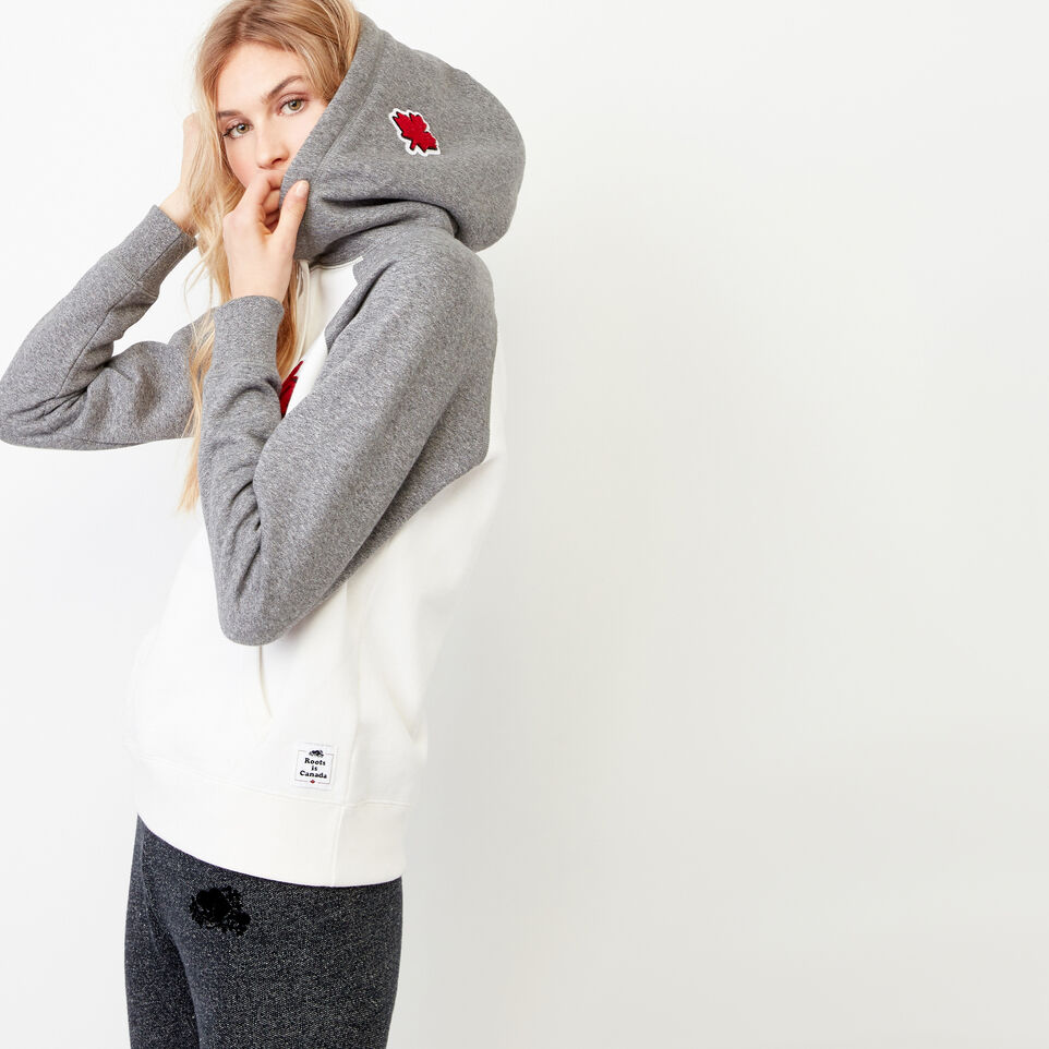 Roots-Women Our Favourite New Arrivals-Canada Kanga Hoody-Cloudy White-C