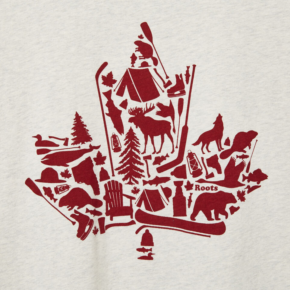 Roots-undefined-Mens Maple Icon T-shirt-undefined-D