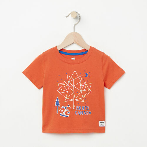 Roots-Kids Baby-Baby Camp Canada T-shirt-Maple Orange-A