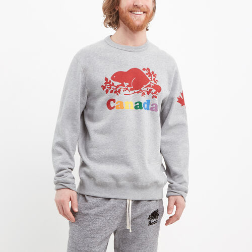 Roots-Men Canada Collection By Roots™-Mens Cooper Canada Crew Sweatshirt-Grey Mix-A
