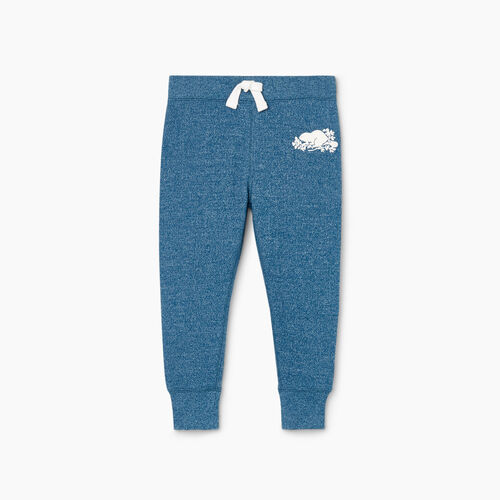 Roots-Kids Toddler Girls-Toddler Cozy Fleece Sweatpant-Moroccan Blue Pepper-A