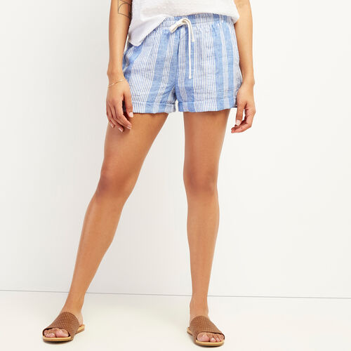 Roots-Women Clothing-Sadie Short-French Blue-A