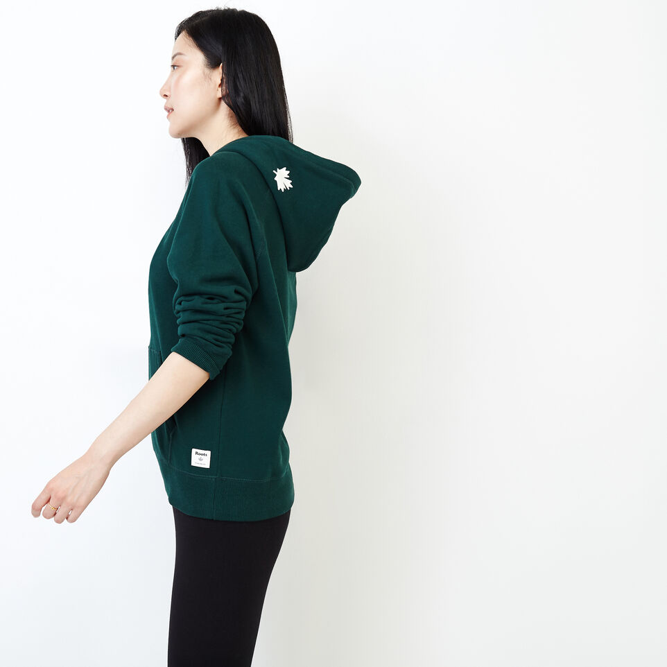 Roots-Women Our Favourite New Arrivals-Original Kanga Hoody-Varsity Green-C