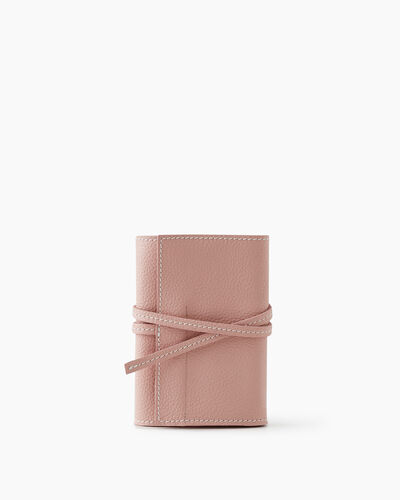 Roots-Leather Tech & Travel-Roll Up Case Cervino-Pink Pearl-A