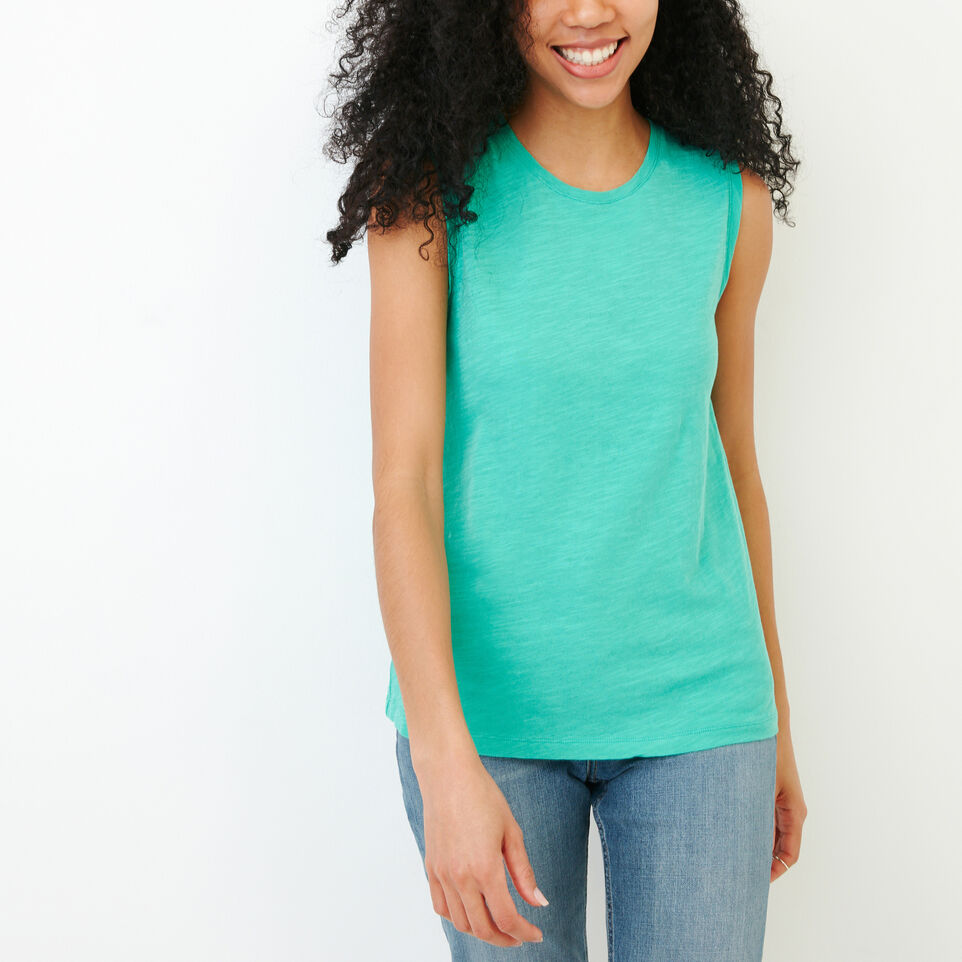 Roots-Women Our Favourite New Arrivals-Lorne Muscle Tank Top-Sea Green-A