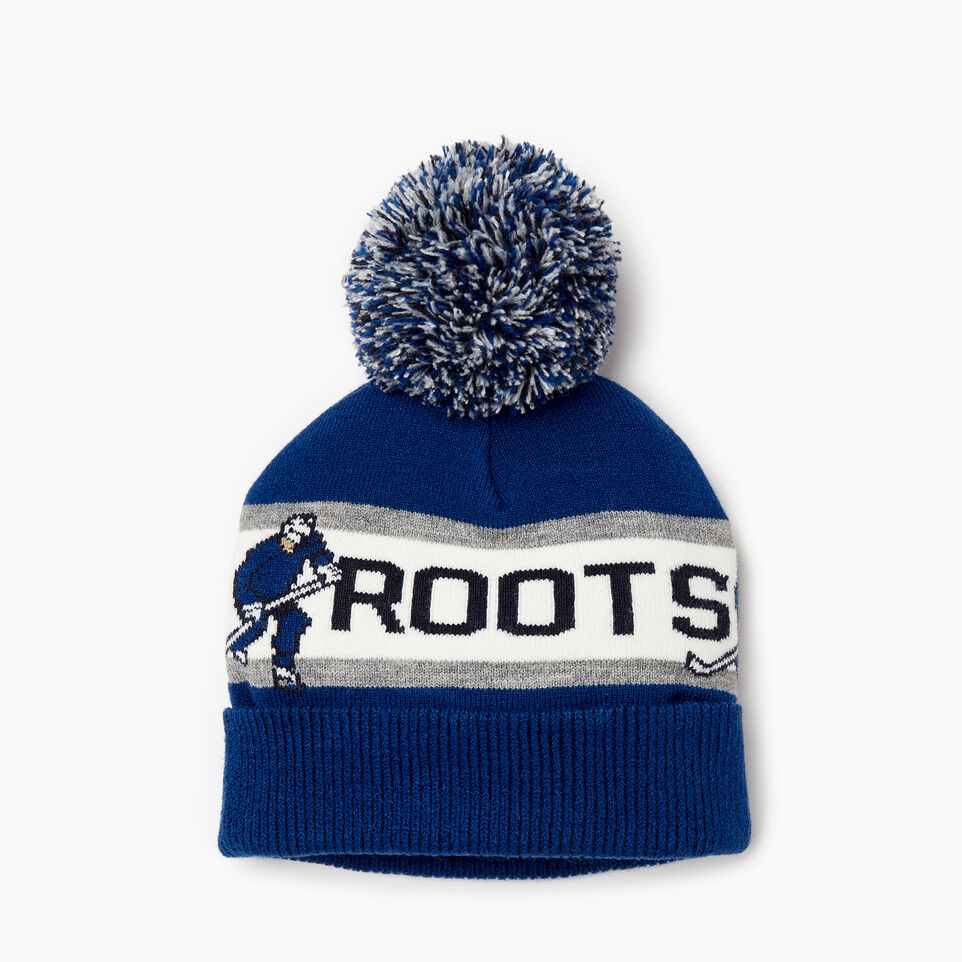 Roots-Kids Boys-Kids Hockey Toque-Blue-A