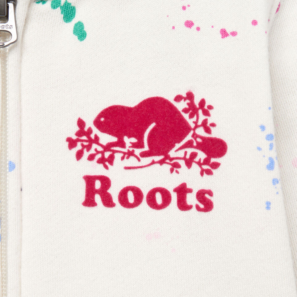 Roots-Kids Our Favourite New Arrivals-Toddler Splatter Full Zip Hoody-Cannoli Cream-D