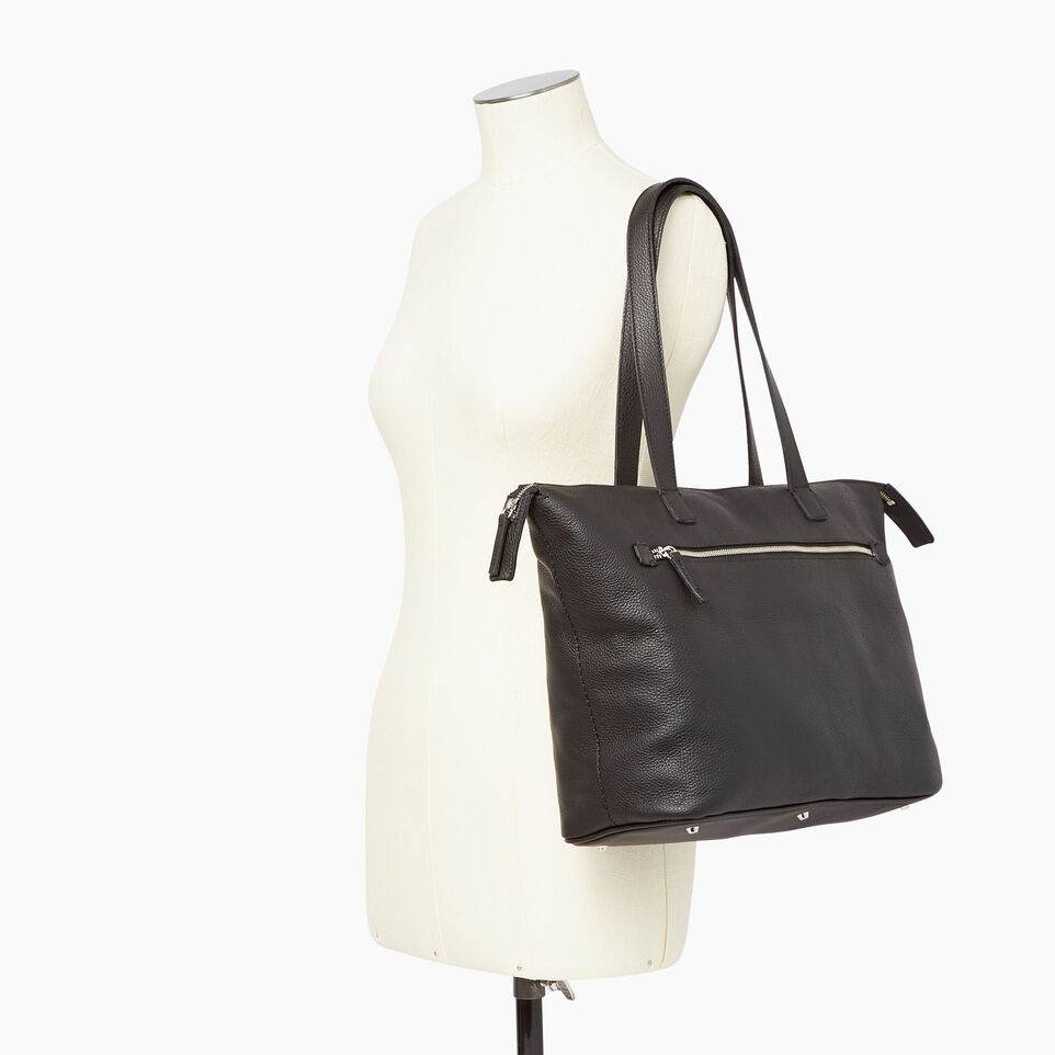 Roots-Leather Our Favourite New Arrivals-Go To Bag-Black-B