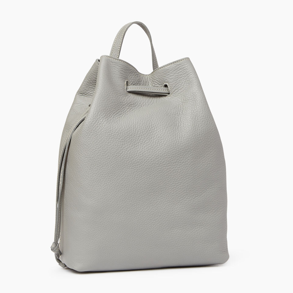 Roots-Leather  Handcrafted By Us Categories-Sherbrooke Backpack-Silverstone-A