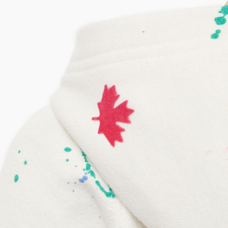 Roots-Kids Our Favourite New Arrivals-Baby Splatter Full Zip Hoody-Cannoli Cream-E