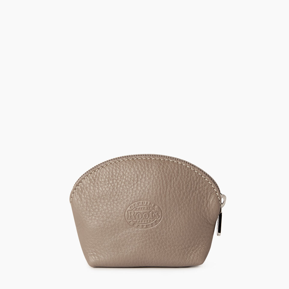 Roots-Leather Categories-Small Euro Pouch-Flint Grey-B