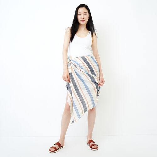 Roots-Women Accessories-Tonquin Sarong-Navy-A