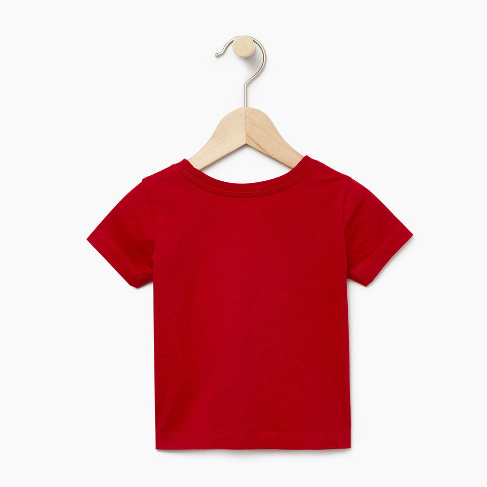 Roots-Kids New Arrivals-Baby Canada T-shirt-Sage Red-B