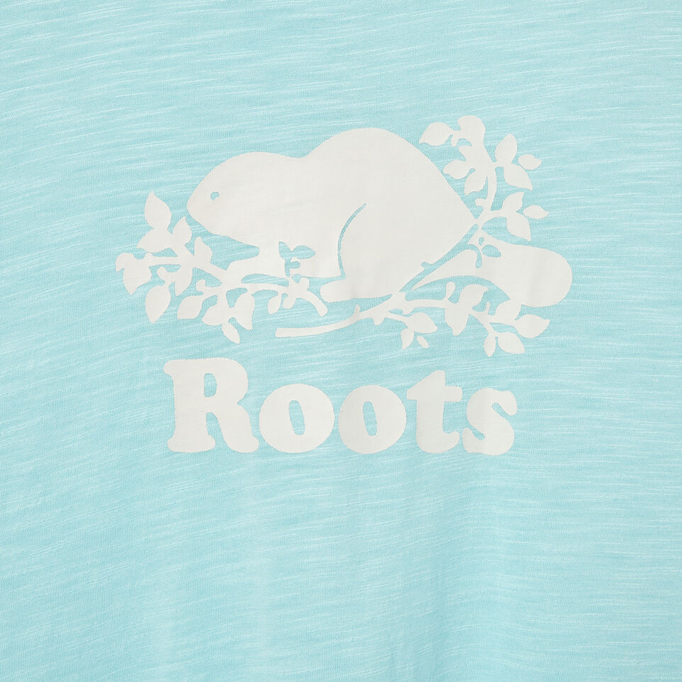 Roots-New For May Kids-Girls Lola Active Swing T-shirt-Aruba Blue-D