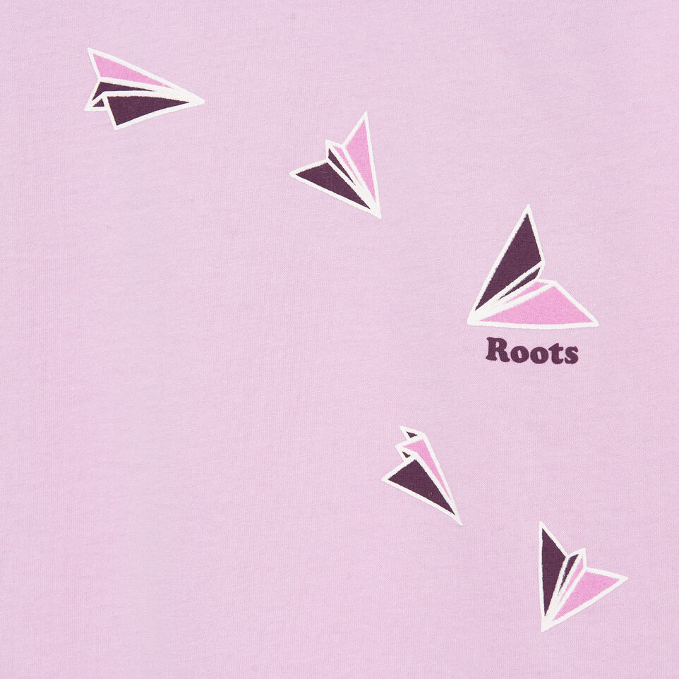 Roots-Kids Our Favourite New Arrivals-Girls Roots Travel T-shirt-Orchid Bouquet-D