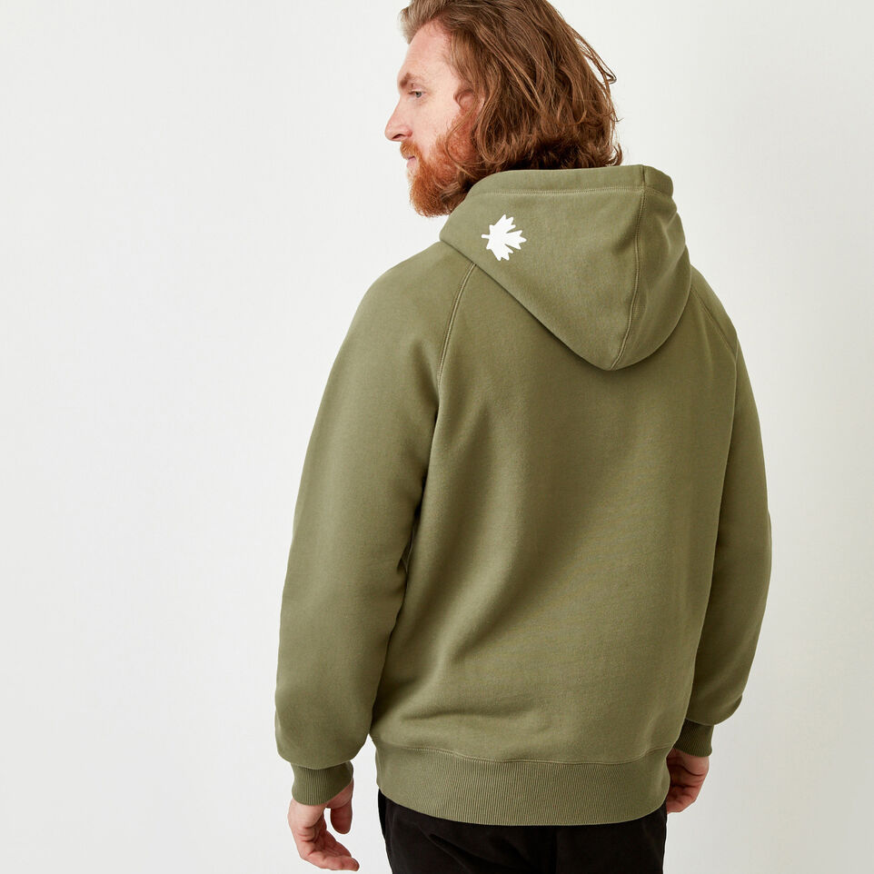 Roots-Men Sweats-Original Kanga Hoody-Lichen-D