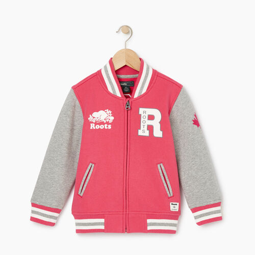 Roots-Kids Our Favourite New Arrivals-Toddler 2.0 Awards Jacket-Pink Flambã‰-A