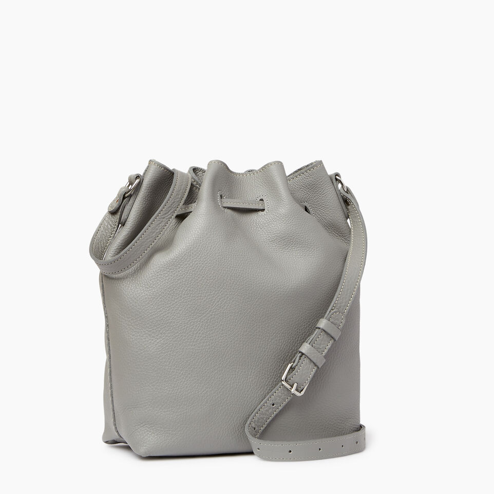 Roots-Leather Handbags-Sherbrooke Bucket-Silverstone-C