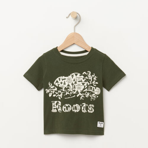 Roots-Kids Baby-Baby Camp T-shirt-Climbing Ivy-A