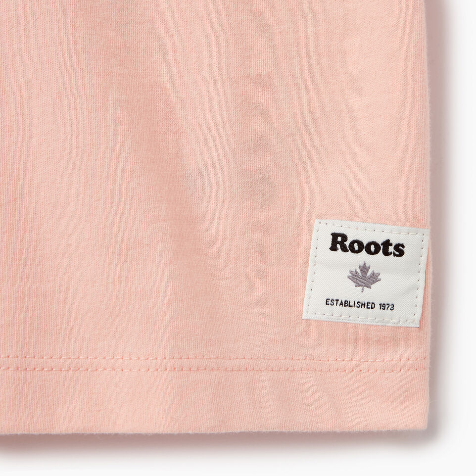 Roots-Kids Our Favourite New Arrivals-Girls Patches T-shirt-Blossom Pink-C