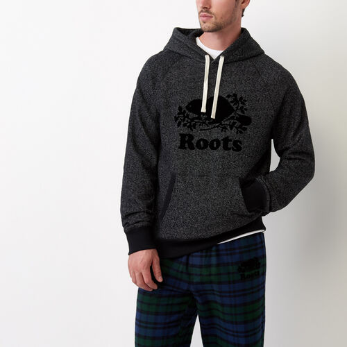 Roots-New For July Men-Original Kanga Hoody-Black Pepper-A