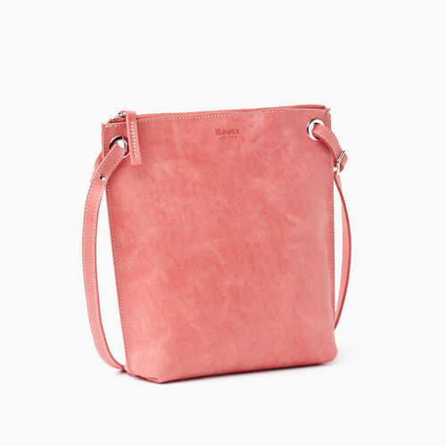 Roots-Leather New Arrivals-Festival Bag-Coral-A