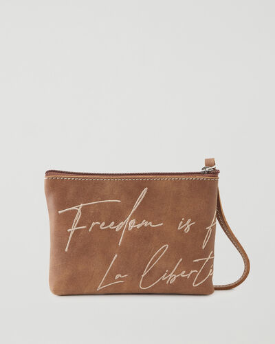 Roots-New For This Month International Women's Day-IWD Freedom Pouch Tribe-Natural-A
