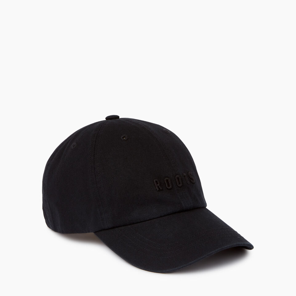 Roots-Women Clothing-Roots Classic Baseball Cap-Black-A