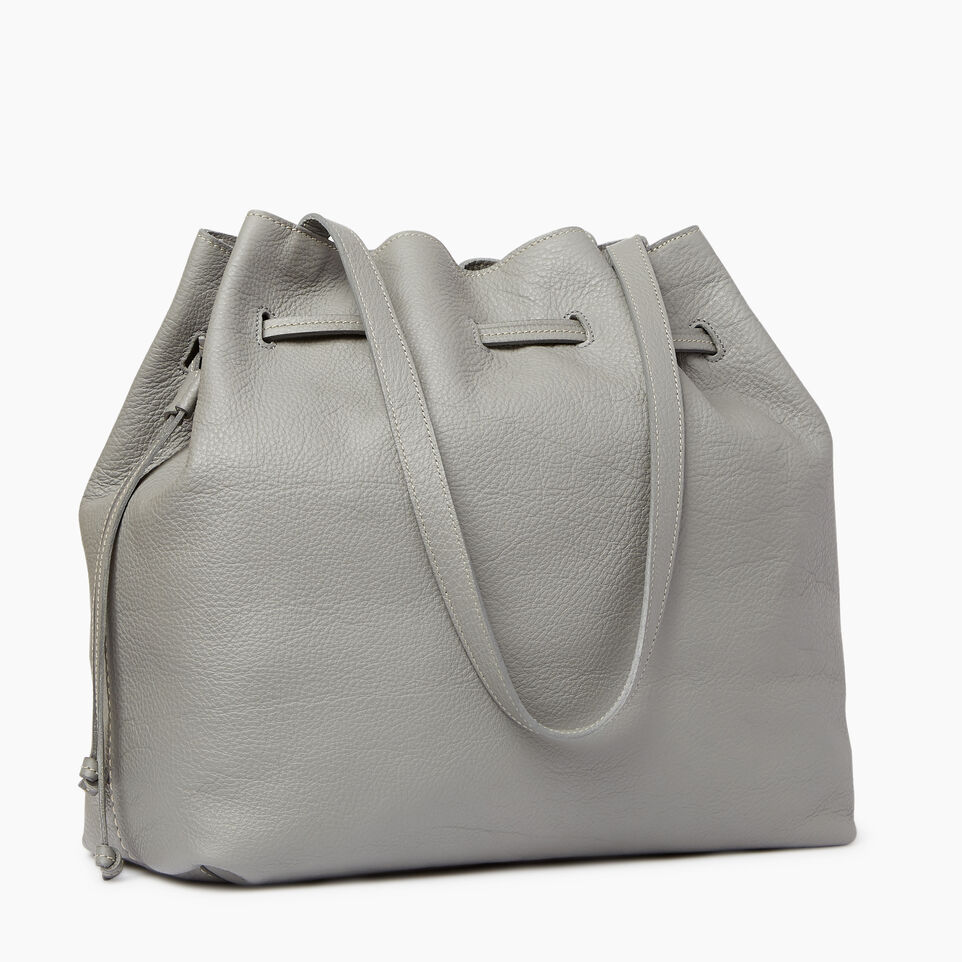 Roots-Leather  Handcrafted By Us Our Favourite New Arrivals-Sherbrooke Tote-Silverstone-A