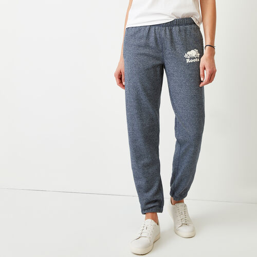 Roots-Women Bottoms-Original Sweatpant-Navy Blazer Pepper-A