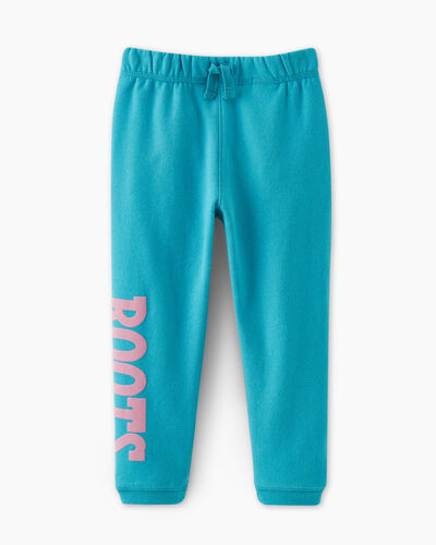 Roots-Kids Bottoms-Toddler Retro Slim Cuff Sweatpant-Peacock Blue-A