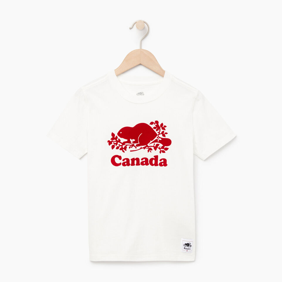 Roots-Kids Our Favourite New Arrivals-Boys Canada T-shirt-Ivory-A